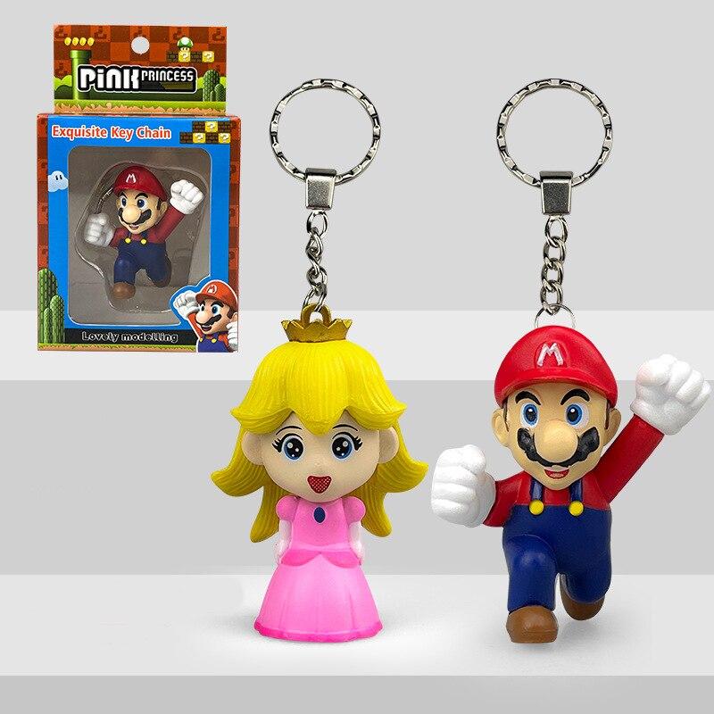 Аниме Супер Марио мультфильм принцесса Персик ПВХ экшн-фигурка модная подвеска коллекционные украшения Марио брелки игрушки подарки