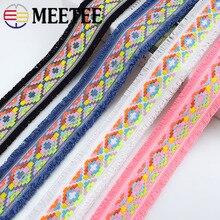 11 yardas 4,5 cm borla franja Jacquard Webbings DIY costura encaje adornos tocado cuello para ropa cintas decorativas DIY Crafts