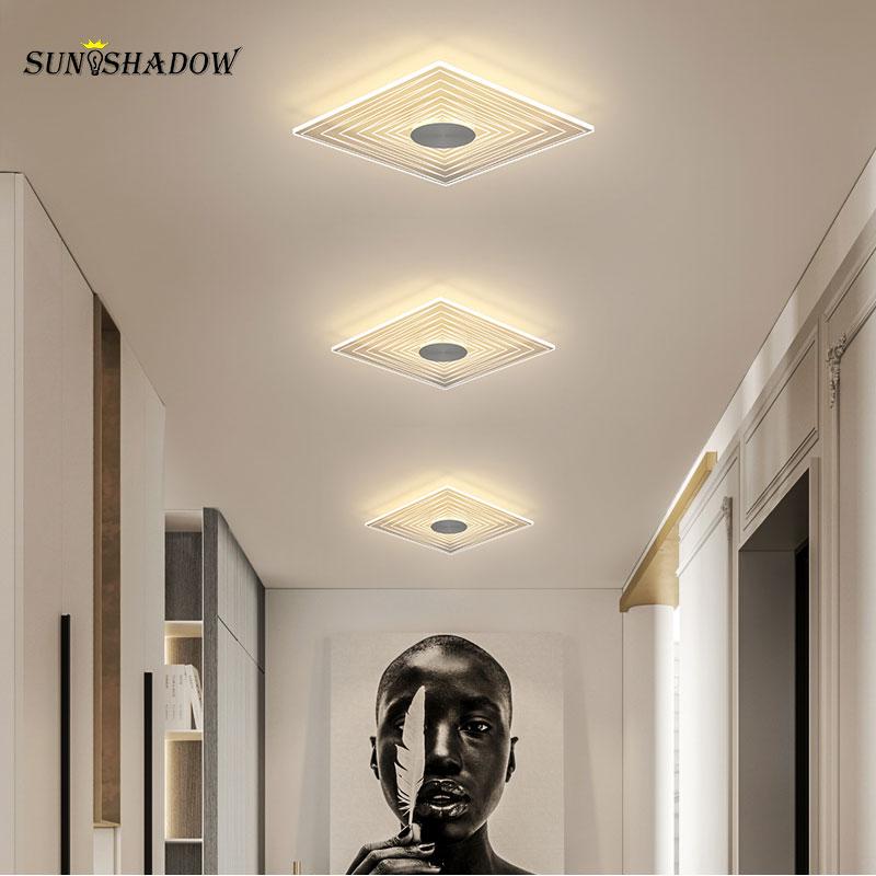Современный светодиодный потолочный светильник, 110 В, 220 В, маленький потолочный светильник, светильник для коридора, коридора, лампа для гос...