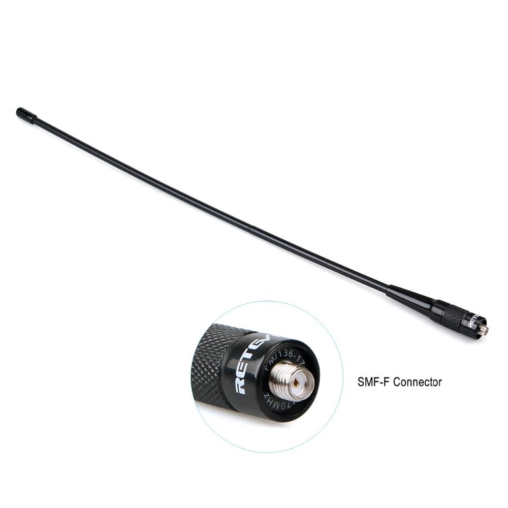 50pcs RETEVIS RHD-771 SMA-F Walkie Talkie Antenna VHF UHF Dual Band 39cm For Kenwood Retevis RT21 RT5R Baofeng UV5R 888S UV-82 enlarge