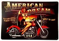 dingleieveramerican dream motorcycle pin up girl sign great gift idea for the motorcycle fanatic