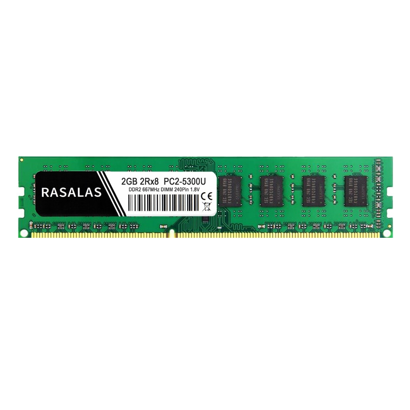 Rasalas Memory RAM DDR2 2G Desktop PC2 4200MHz 5300MHz 6400MHz 533mhz 677mhz 200pin 1.8V PC Memoria Ram for DDR2 2G enlarge