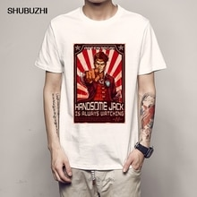 Summer Fashion Men Tshirt Print 3D Brand Designer Inverted Borderlands T Shirt Summer Slim Mens Short Sleeve Cotton T-shirt