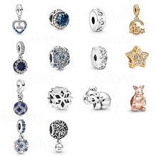 KAKANY automne hiver nouveau 925 bleu 2020 amulette flocon de neige ange kangourou étoile Koala pendentif à breloque bricolage Original femme bijoux cadeau