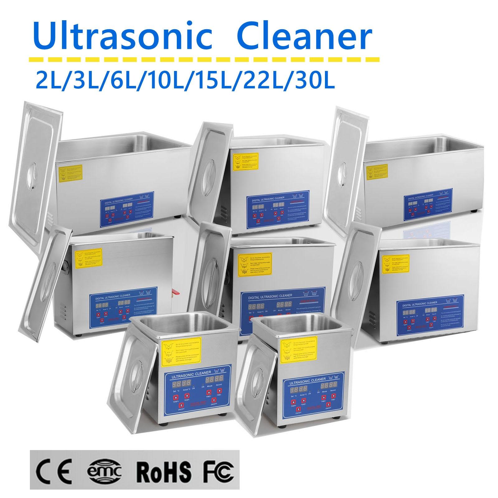 Ультразвуковой очиститель 600 Вт, 2 л/3 Л/6 л/10 л/15 л/22 л/30 л, с таймером, промышленное оборудование для очистки, из нержавеющей стали