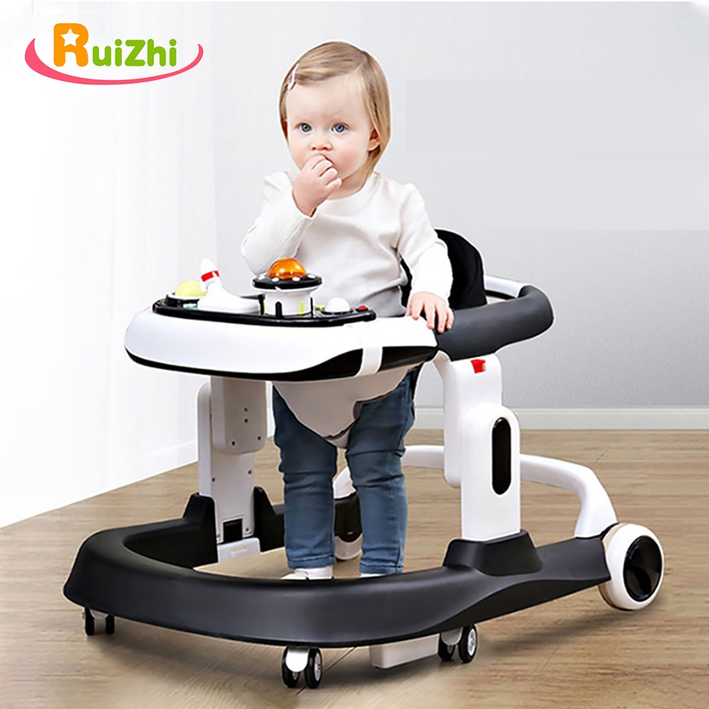 Ruizhi Baby Walker Foldable Balance Car with Activity Tray and 2 Cushion Anti Rollover Car for Toddler Learn to Walk RZ1276