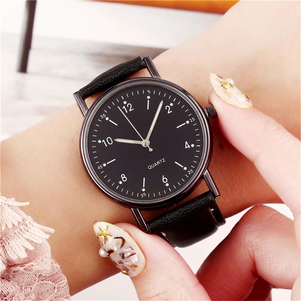 Reloj Mujer 2020 Geneva Fashion Women Luminous Dial Analog Leather Quartz Wrist Watch Watches Womens Watches Top Brand Luxury