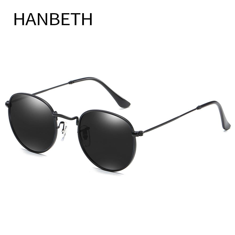 Классические круглые поляризационные солнцезащитные очки, мужские брендовые дизайнерские Винтажные Солнцезащитные очки, женские поляриз...