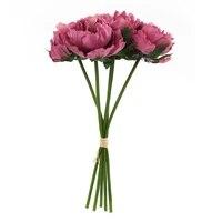 Bouquet de fausses fleurs artificielles pivoines  5 tetes  pour decoration de mariage  fete a domicile