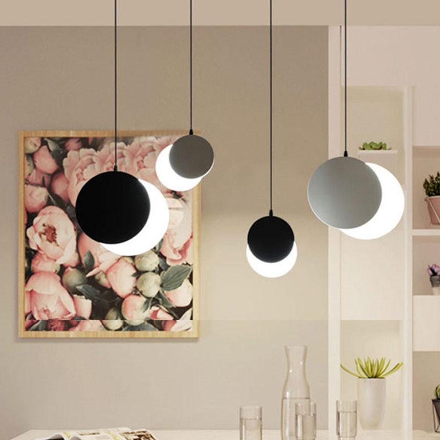 Thrisdar-مصباح معلق على شكل قمر كسوف ، مصباح معلق إبداعي مع شخصية ، مثالي للمطعم ، البار ، المقهى ، المتجر ، مصباح بجانب السرير
