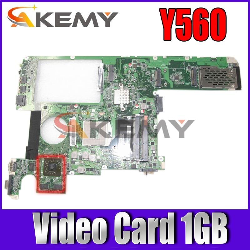 Akemy 11S1101213 لوحة الأم للكمبيوتر المحمول لينوفو Y560 DAKL3AMB8E0 HM55 DDR3 HD5000 بطاقة الفيديو 1 جيجابايت اللوحة الرئيسية أعمال كاملة
