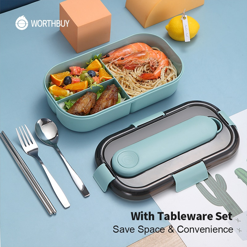 aliexpress.com - WORTHBUY Japanese Lunch Box For Kids Microwave Plastic Food Container With Compartment Tableware Leak-Proof Bento Box Food Box