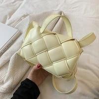 women new designer brand handbag woven pu leather personality all match crossbody shoulder bag fashion tide 2021 sac main femme