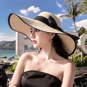 20 Handmade New Women's Straw Hat Sun Hats Wide Wide Brim High Quality Natural Straw Beach Panama Straw Hat Holiday Sun Hat