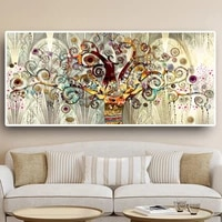 klimt landscape canvas painting classic tree of life print poster wall art picture modern nordic prints for living room decor