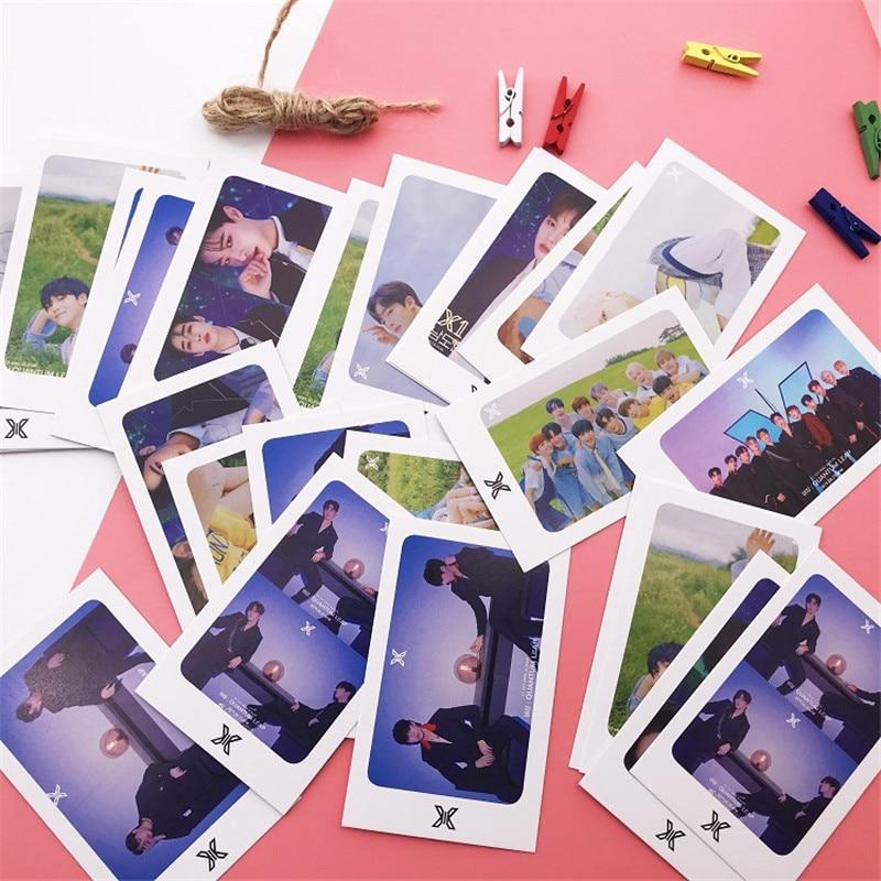 Kpop X1 Album Small LOMO Cards Clear Portray Photo Postcards 32Pcs/Set