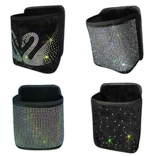 Luxury Rhinestone Car Storage Bag Organizer Backseat Holder Multi-Pockets Car Container Stowing Tidy