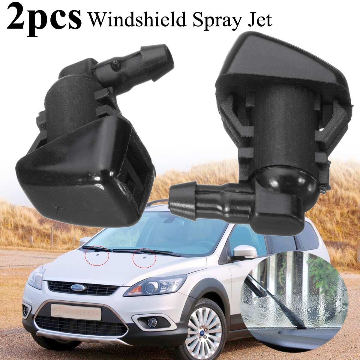 2 uds coche parabrisas limpiador de PULVERIZADOR DE AGUA Jet boquilla arandela del parabrisas kit de Ford/enfoque 2008-2011