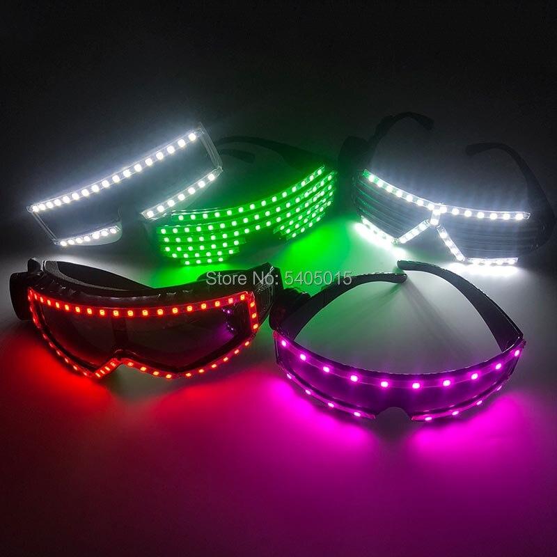 Multciolor selecione unissex aniversário luzes da noite de natal masquerade festa óculos de luz up led óculos alimentado por cr2023