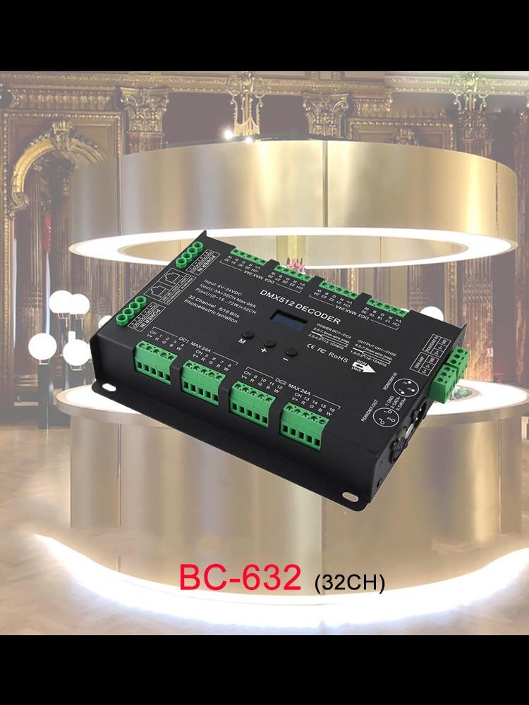 32CH DMX512 CV POWER DECODER DC5~24V Support RDM functio output frequency 1K/2K/4K/8K for constant voltage RGB RGBW led strip enlarge