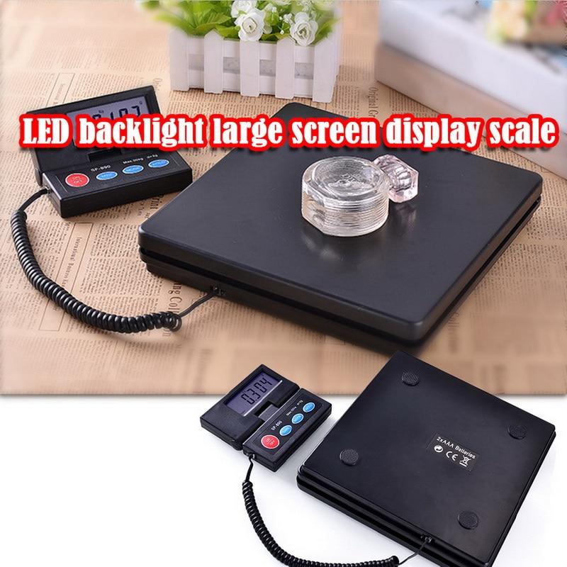 Mini portátil 50kg lcd pacote eletrônico postal pesando bagagem plataforma escala digital balança de peso pacote postal escala novo