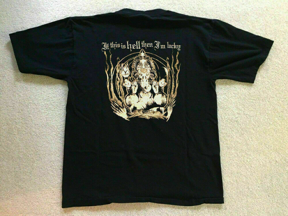 Camisa de baño de ácido Dax Riggs Vintage raro Deadboy & the Elephantmen. Camiseta divertida con cuello redondo