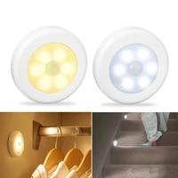 motion sensor wireless night lights bedroom decor lamp 6 led kitchen cabinet light staircase closet room aisle lighting