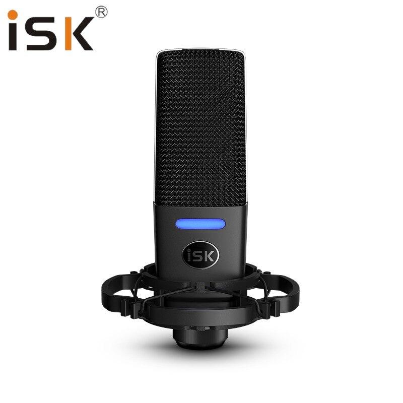ISK iKG1000 microphone à condensateur de studio alimenté par fantôme diffusion en direct/enregistrement professionnel/performance en direct/karaoké en ligne