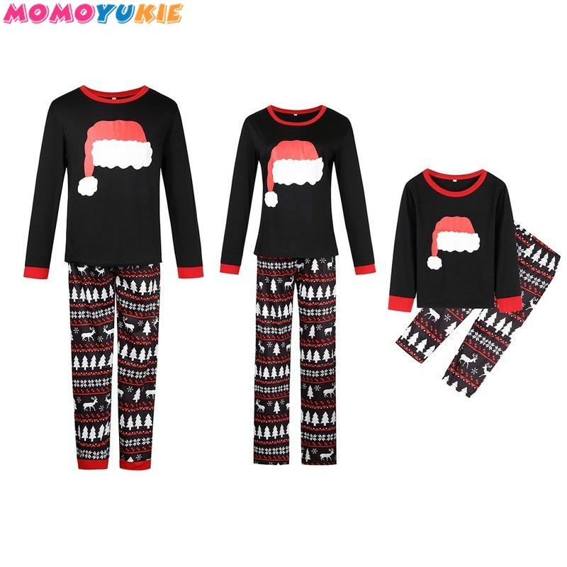 Christmas Family Pajamas Set Family Matching Clothes Xmas Party Clothes Adult Kids Pajamas set Cotto