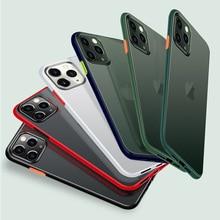 Jonsnow matte hit color caso para iphone 11 pro xr xs max casos à prova de choque capa protetora para iphone se 2020 7 8 + 6s plus