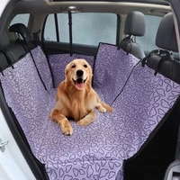 kennel dog waterproof carriers rear back pet dog car seat cover mats hammock protector with safety belt transportin perro