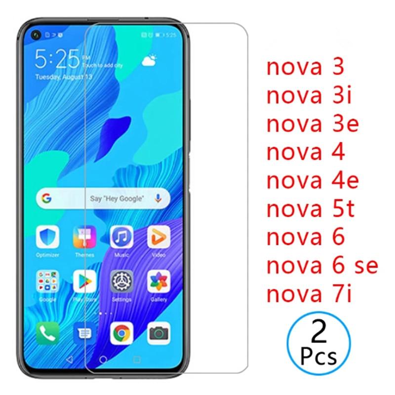 9H Gehärtetem Glas für nova 5t 6 7 se 7i Sicherheit Schutz Screen Protector Huawei Nova4 4e 3 3i 3e 5z 5 5i Telefon Glas Film