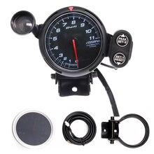 11000 RPM Universal Car Tachometer with Stepper Motor & LED Car Shift Light  DC 12V Auto Gauge fit for 1~10 Cylinders Engine