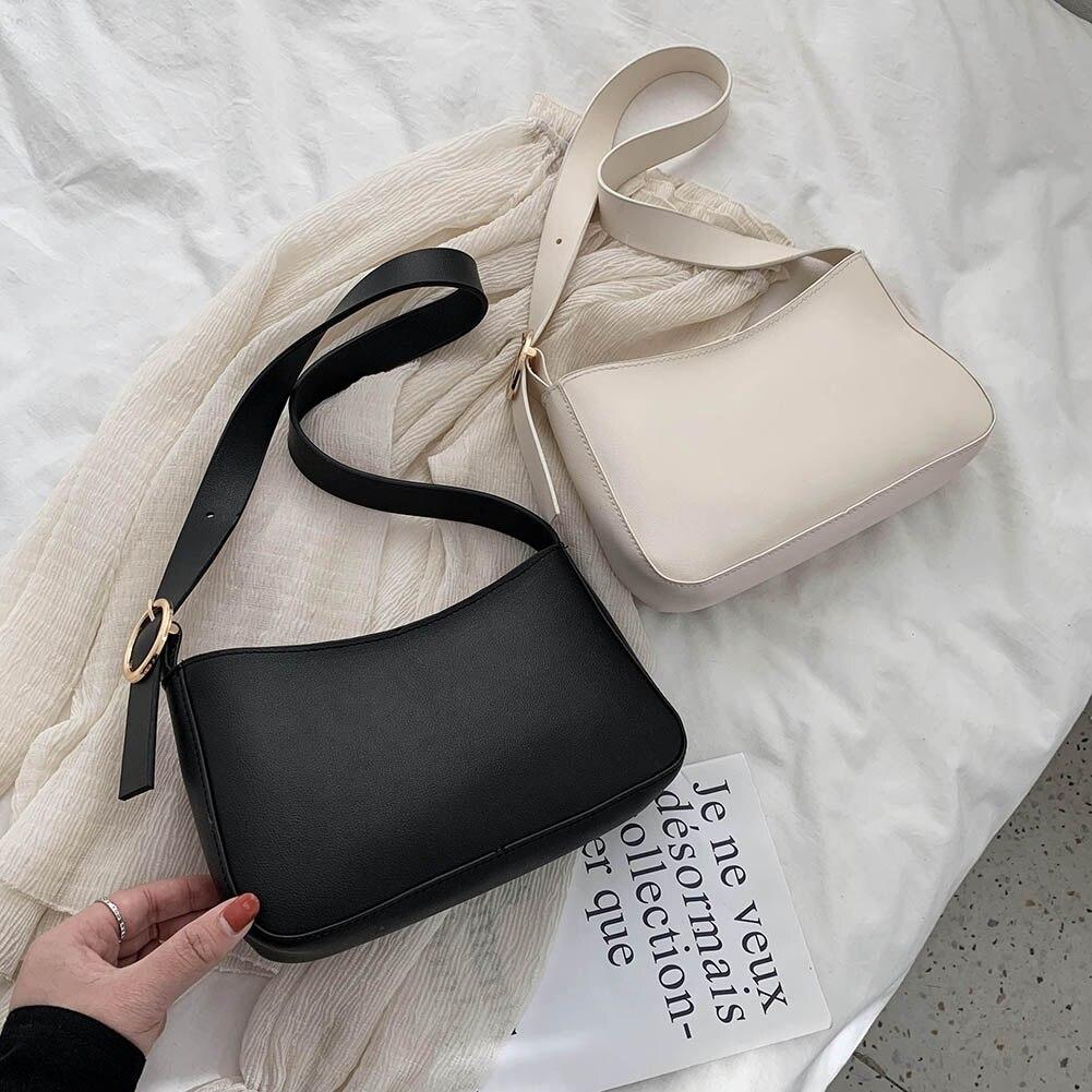 Винтажные женские сумочки из искусственной кожи, однотонные элегантные женские ретро сумки на плечо, женские маленькие дорожные сумки-тоуты для покупок, 2021