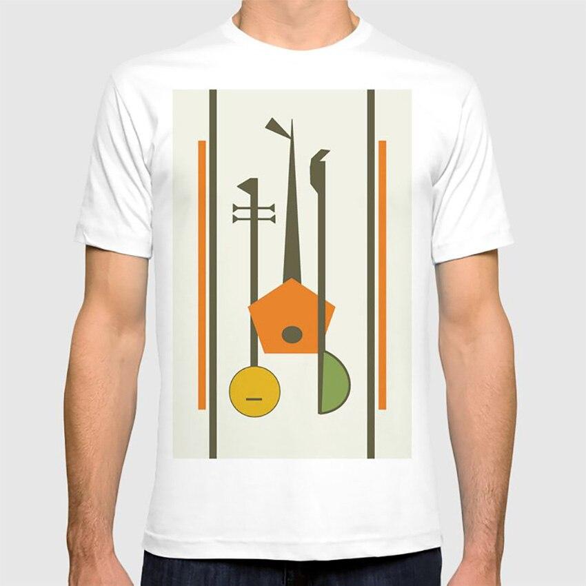 Camiseta de cuerdas musicales de Arte Moderno de medio siglo, Arte Pop Art, música, guitarra, Lute, instrumentos modernos de medio siglo