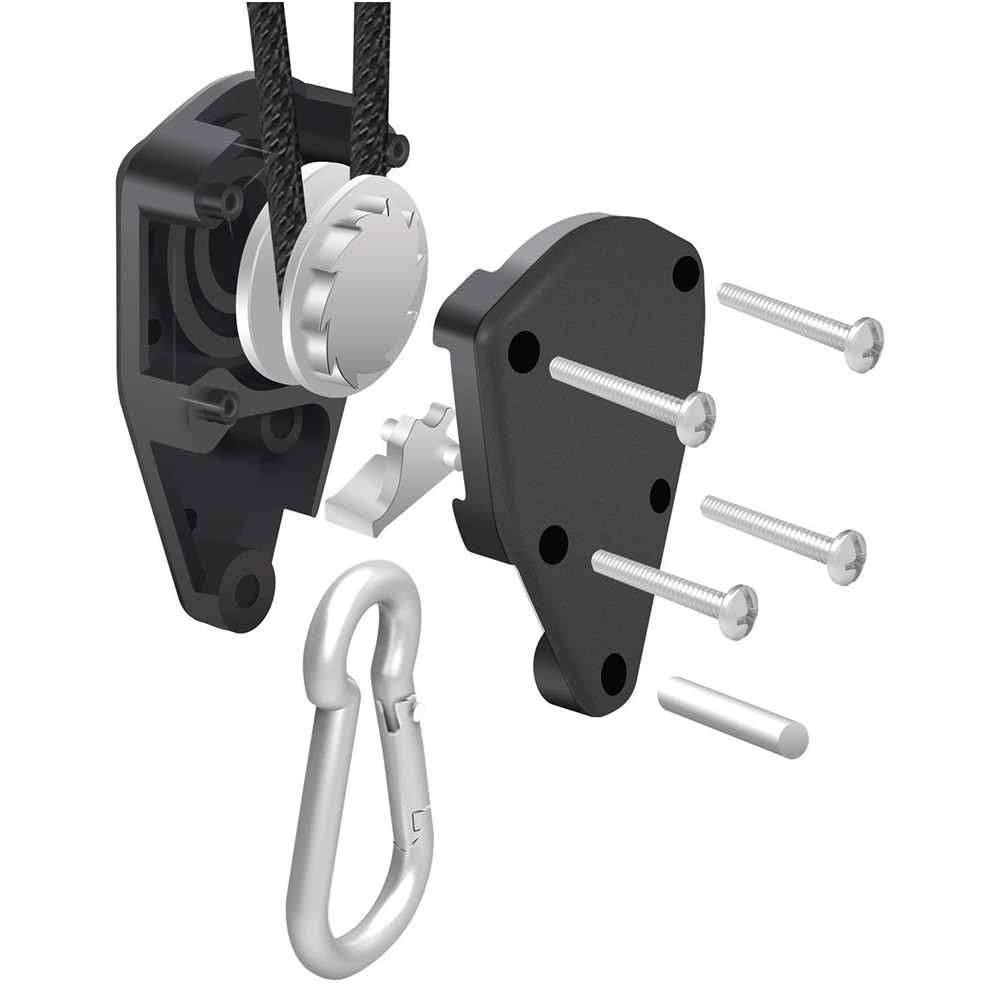1 Pair Of Lifting Pulley Hooks Adjustable Length And Locking Maximum Load150 Lbs/Pair 68 Kg/Pair Pulley Hangers Assembly Sling