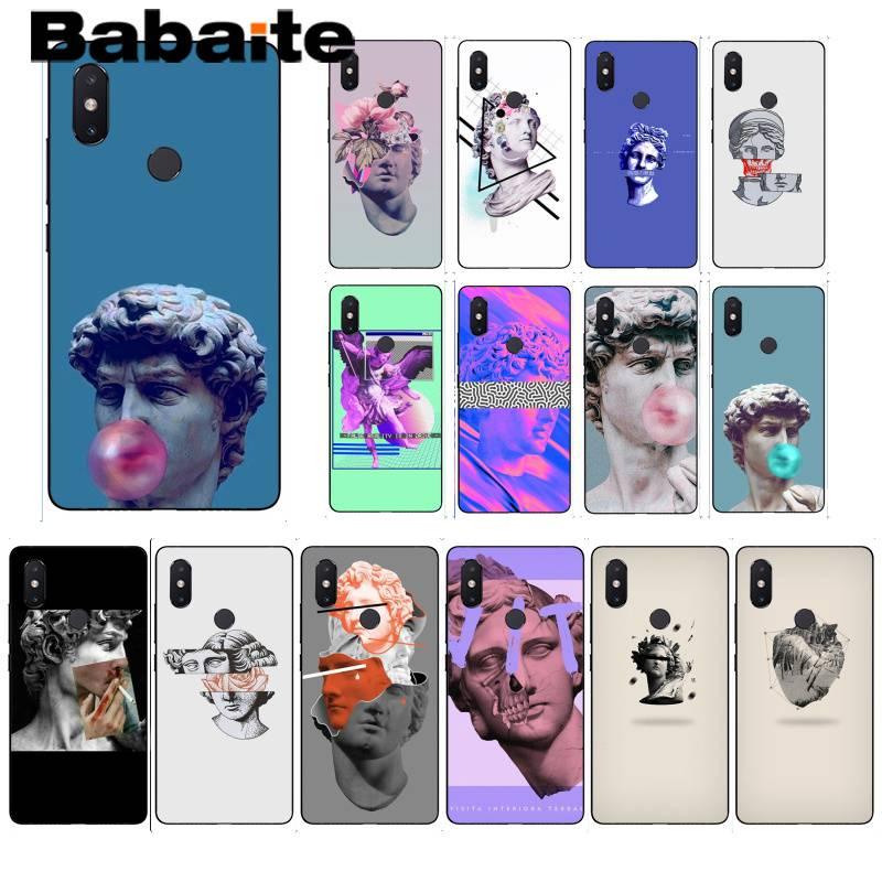 Babaite David fashion art Smart Black Soft Shell Phone Case For xiaomi6 MIX2 note3 redmiK20 7 xiaomi8SE redminote4 note5 5A