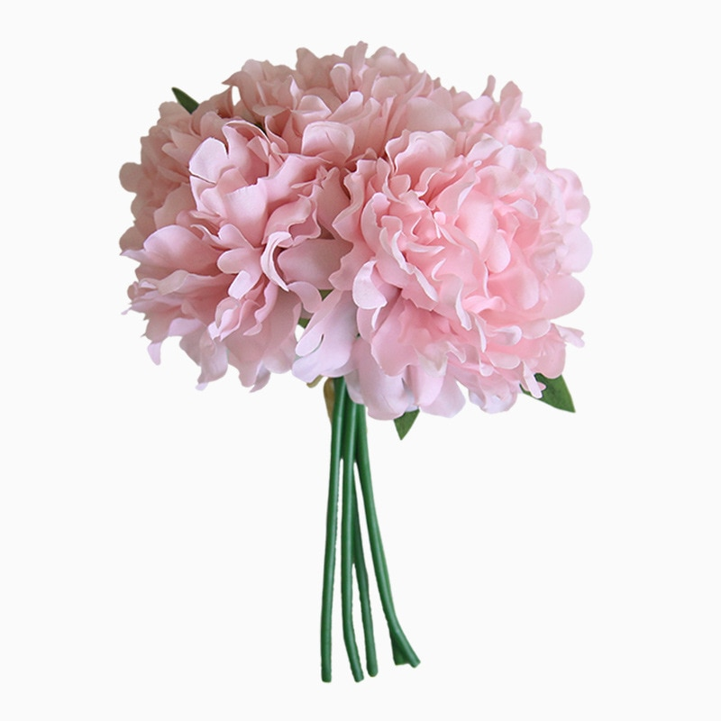 Artificial Flower Bundle Silk Peony Bouquet Simulation Hydragea Branch Flower Decoration Home Wedding Hand Holding Wreath
