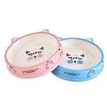 2PCS Pet Bowl Lovely Cartoon Cat Ear Pet Food Bowl Pet Water Bowl for Cats Dogs