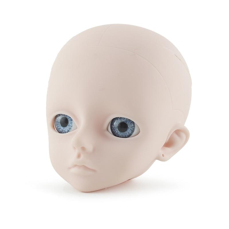 BJD poupée 1/3 tête pour poupée 60 cm, pas de maquillage ou avec maquillage fille jouets pour enfants boule articulée poupée seulement tête