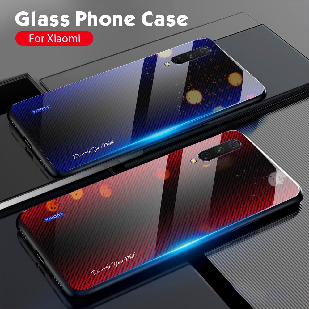 Tempered Glass Veins Case For Xiaomi Mi Note 10 9T SE CC9 Cover For Xiaomi Redmi Note 8 7 9 Pro 9S 8T 8A 7A K20 5 6 9SE Cases