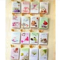 30pcs 6 59 3cm gold wire folded in half blank card cute mini greeting card birthday card messagechrismas