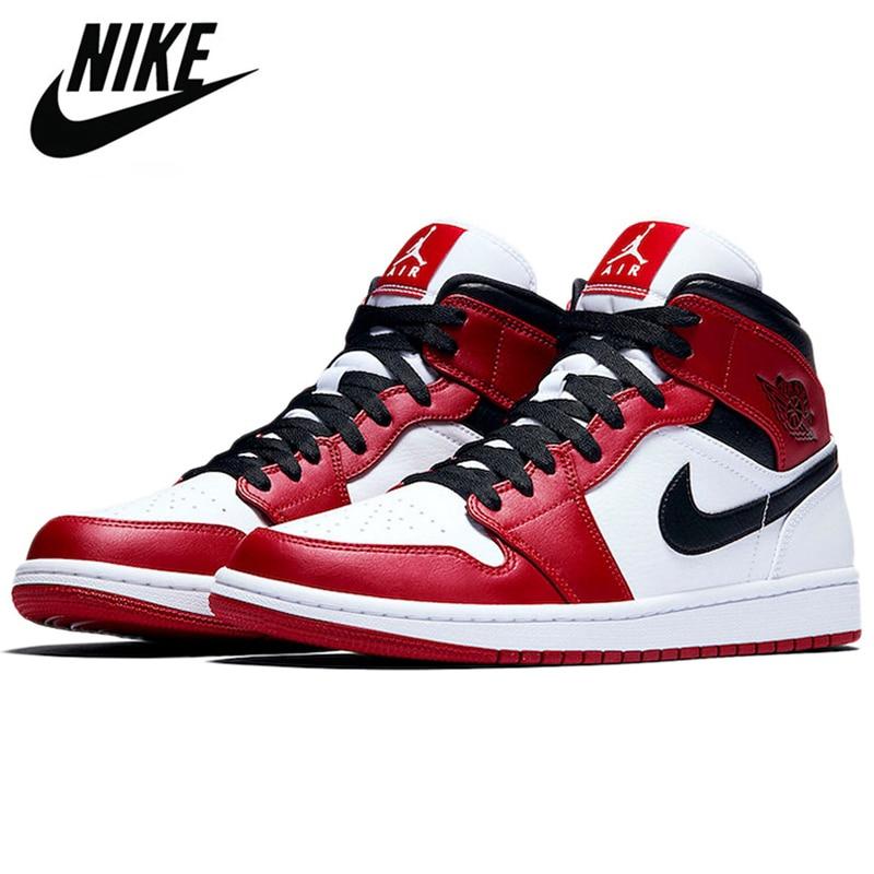 Authentieke Originele Schnike Air Jordan 1 Mid Og Bio Hack Mannen Schoenen Vrouwen Basketbal Sneakers Retro Hoge