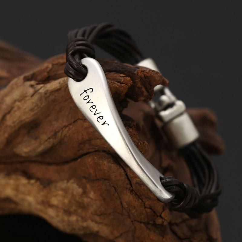 LKO nueva llegada plata 990 Retro carta de cuerda hecha a mano pulsera para hombre y mujer pulsera estilo nacional envío gratis