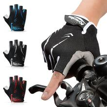 Cycling Anti-slip Anti-sweat Men Women Half Finger Gloves Breathable Anti-shock Sports Gloves MTB Bi