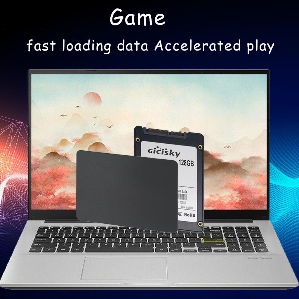 Gicisky 1pcs 128GB  SSD HDD 2.5 Hard Disk Disc 2.5