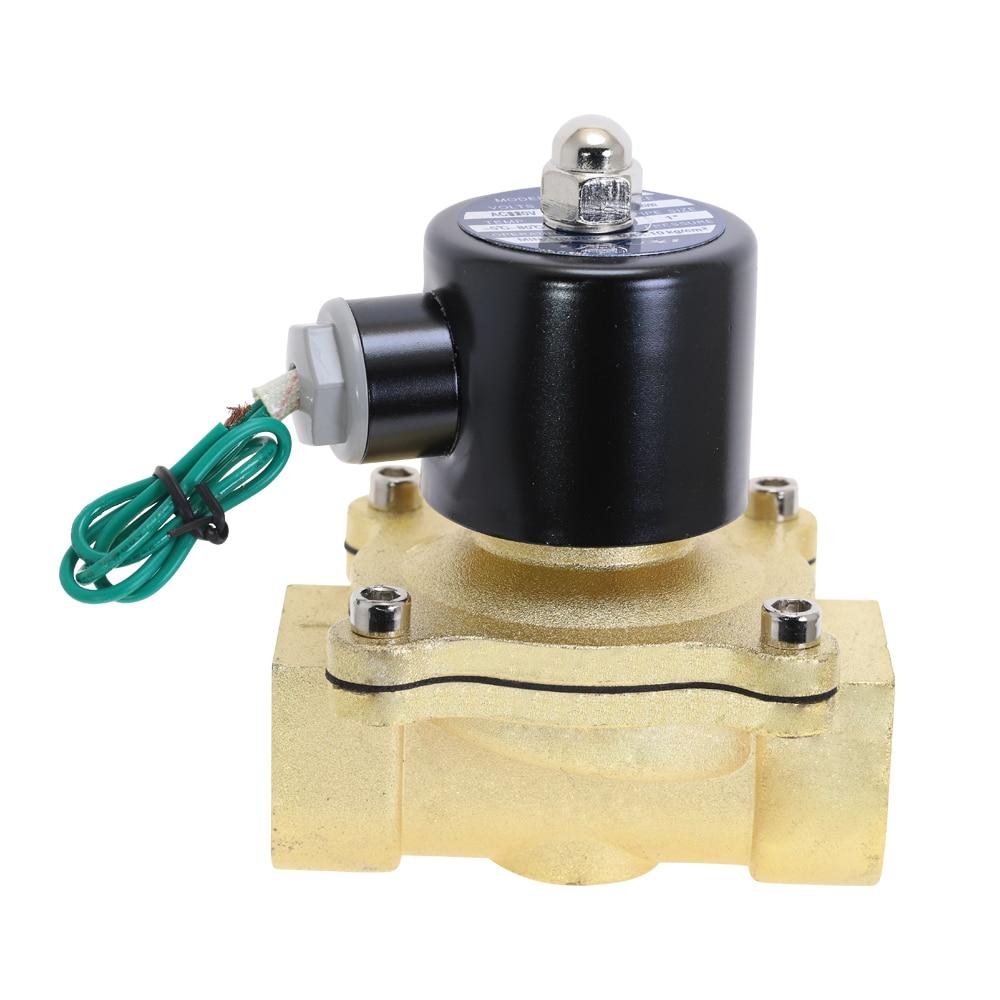 "Válvula de aire, agua, aceite Electroválvula neumática 2W250-25 1"""