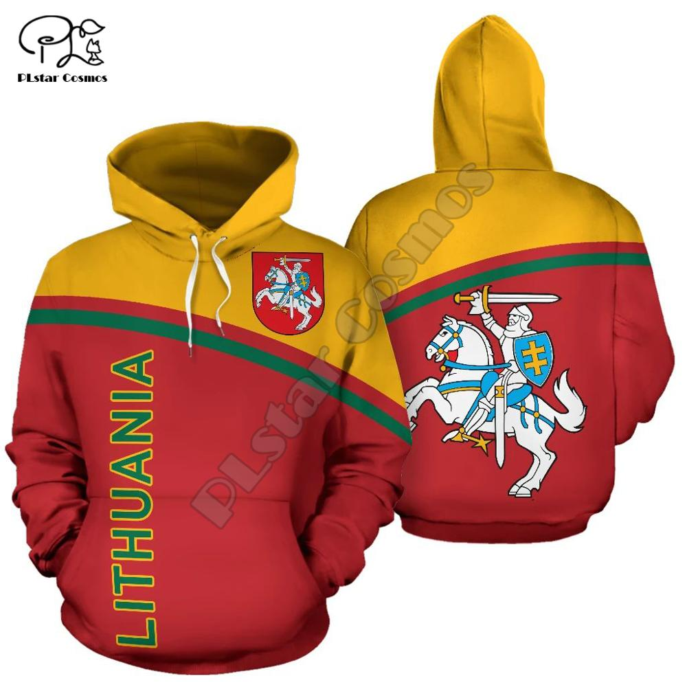 Hombres I love my country Lituania 3d Sudadera con capucha de manga larga sudaderas chaqueta pulóver chándal con capucha hoody otoño prendas de vestir