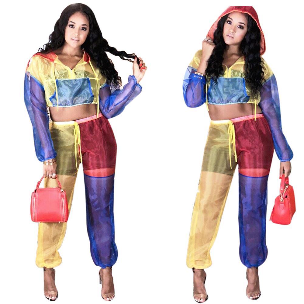 Conjunto informal de 2 piezas para mujer, abrigos cortos de manga larga con cremallera frontal y pantalones de chándal con cordón de otoño, traje de jengibre
