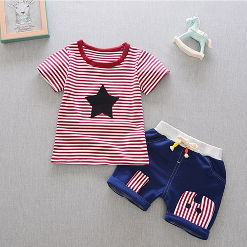 Ropa para niño recién nacido bebé es Conjunto de blusa + pantalón ropa infantil ropa de verano ropa de deporte niños ropa para niño traje de chico de alta calidad